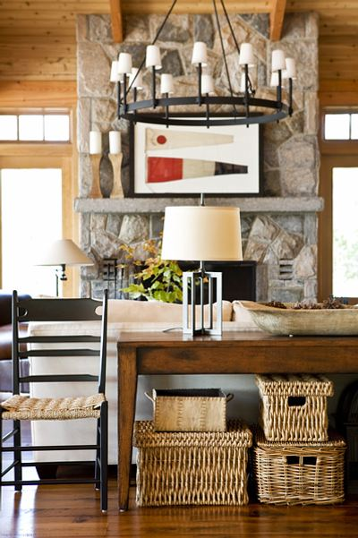 Decorative storage idea for the living room