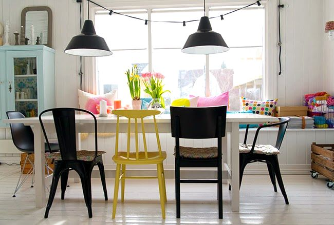 Renew your dining room with different chairs