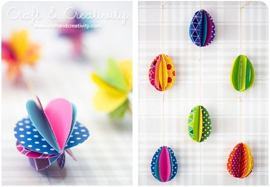 Easter craft colorful eggs