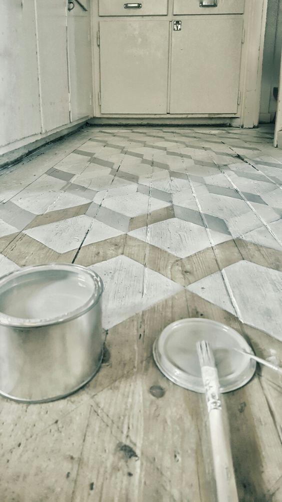 geometric pattern floor