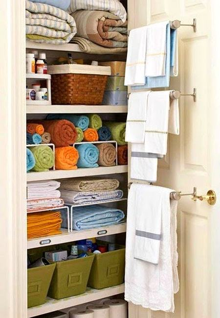 organization and store furniture for a house -towels