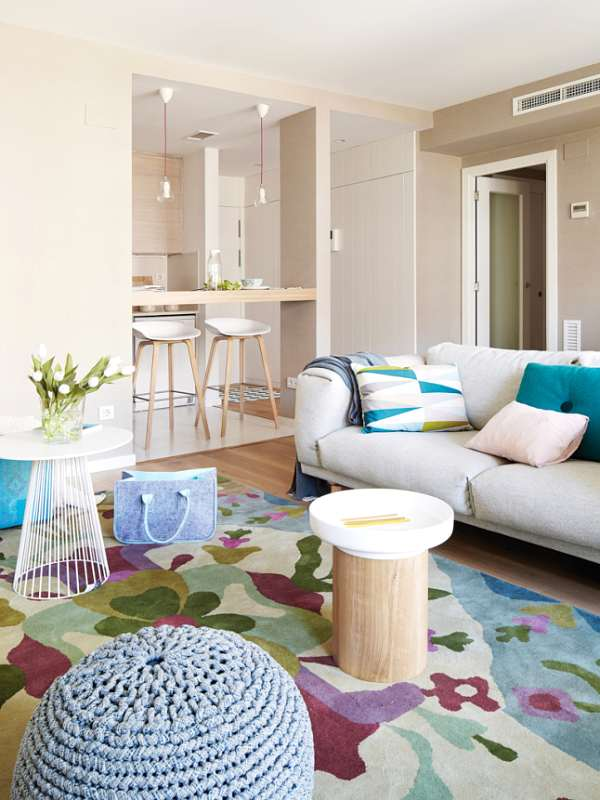 Colorful and Versatile Living Room